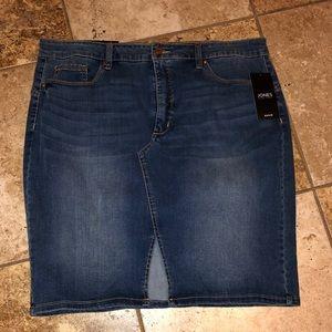 Denim Pencil Skirt For Denim Lovers! Spilt Front